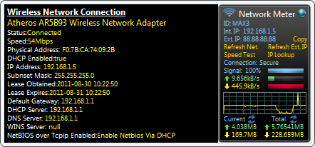 Screenshot of Network Meter