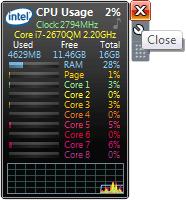 Close Windows desktop gadget