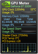 Screenshot of GPU Meter 2.4