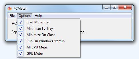 PC Meter Options