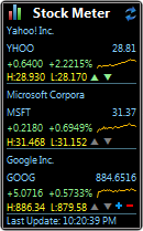 windows desktop gadgets stock meter